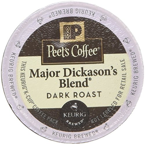 Peet's Coffee Major Dickason Blend Single Cup Coffee for Keurig K-Cup Brewers 40 count (Peets Keurig Coffee Cups compare prices)