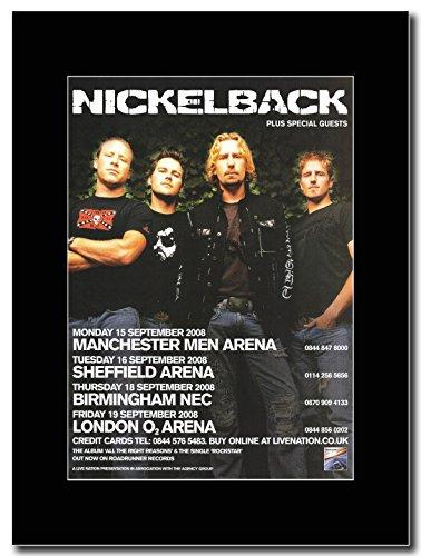 Nickelback-UK Tour date settembre 2008 Magazine Promo su un supporto, colore: nero
