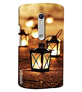 Omnam Lighting Lamp On Way Printed Designer Back Cover Case For Moto X Style