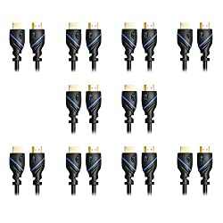 C&E CNE74642 High-Speed HDMI Cable 10-Feet Supports Ethernet, 3D and Audio Return, 10 Pack