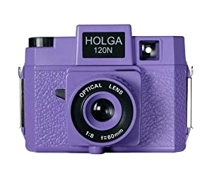 Holga 183120 Formally Holgawood Collection Plastic Camera (Violet)