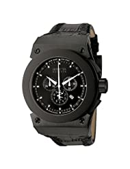 Invicta Men's F0013 Akula Collection Russian Diver Chronograph Black Ion-Plated Watch