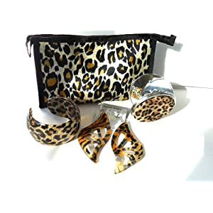 Acrylic Fashion Bangle Animal Print Bracelet & Earring
