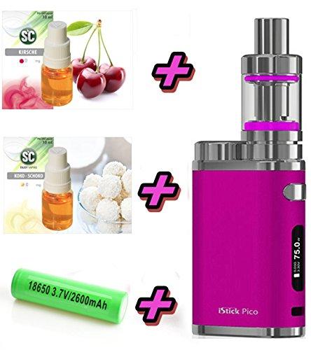 istick pico starter kit xxl set pink elektro zigarette set mit sc liquids stick 75 w tc. Black Bedroom Furniture Sets. Home Design Ideas