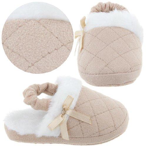Cheap Beige Toddler Slippers for Girls (B004Z24514)