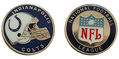 Indianapolis Colts Collectible NFL Challenge Coin Logo Poker / Lucky Chips & Gift
