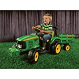 John Deere Battery-Powered 12 Volt Farm Tractor/Trailer