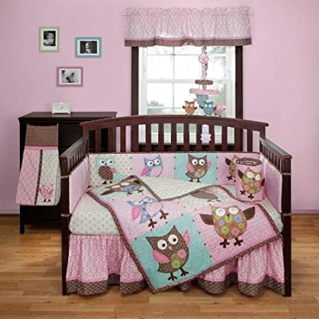 Calico Owls 3 Piece Crib Bedding