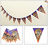 R-STYLEハロウィンパーティが盛り上がる10連三角フラッグ飾り2組(計20連)セット(闇夜とかぼちゃ)