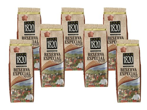 Cafe 1820 Reserva Especial - Costa Rica Gourmet Ground Premium Coffee - 12 oz (340 gr) 7 Pack