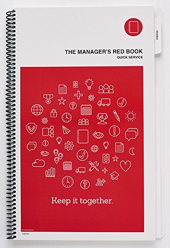 The Manager's Red Book - Quick Service restaurant management communication logbook 8.5