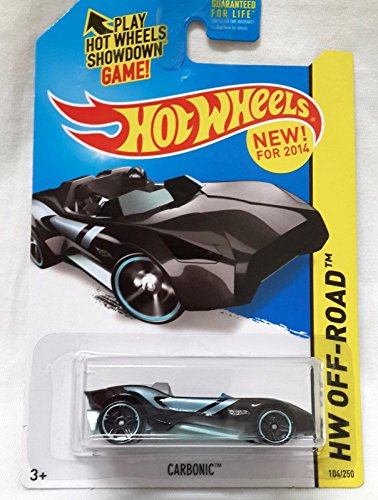 2014 Hot Wheels '13 Carbonic HW Off-Road 104/250, Black and Turquoise