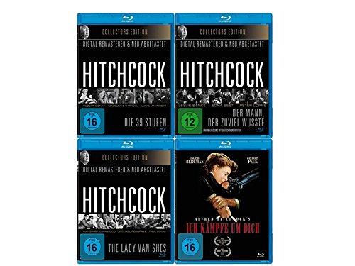 Alfred Hitchcock Blu-ray Fan Edition (Die 39 Stufen, The Lady Vanishes, Ich Kämpfe um Dich, Der Mann, der zuviel wusste) (4 Filme auf 4 Blu-rays)