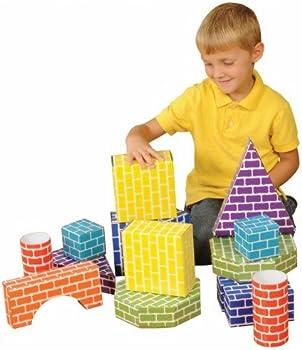 Edushape 45-Piece Corrugated Blocks