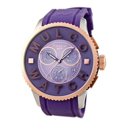 Mulco Homme & Femme 52mm Chronographe Violet Plastique Bracelet Montre MW3-10302-053