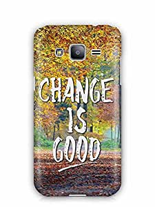YuBingo Change is Good Designer Mobile Case Back Cover for Samsung Galaxy J2