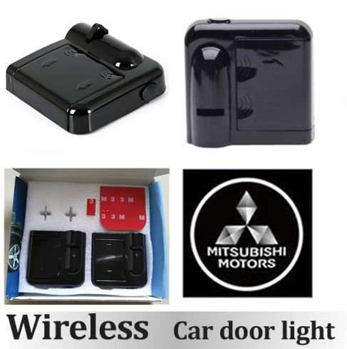 2pcs Car Door Light LED Auto Welcome Light Laser Car Door Shadow led Projector MITSUBISHI Logo Wireless Car Welcome Door for Mitsubishi Auto Door Light (Mitsubishi 2) (Mitsubishi Welcome Lights compare prices)