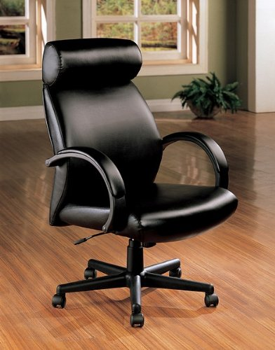 Contemporary High Back Black Executive Office Chair w/Gas Lift