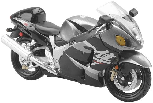 New Ray Toys Street Bike 1:12 Scale Motorcycle Hayabusa 1300 Black 2005 42287C