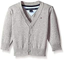 Tommy Hilfiger Baby Boys\'\' Long Sleeve Liam Cardigan, The Grey Heather, 18 Months