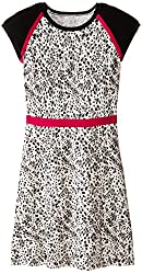 kc parker Big Girls' Animal Print Cotton Sweater Dress
