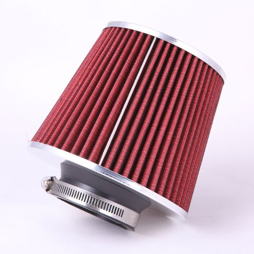 Fastwayracer Af6-3-Rd, Universal High Performance Red 3'' Inlet Cone Dry Flow Air Filter Oil Free front-72760