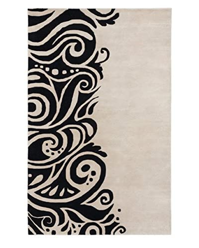 Handmade Impressions Rug, Black/Light Gray, 5' x 8'