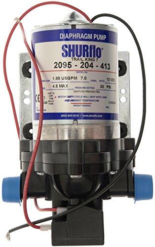 Shurflo Durchflussmesser + Trail King 7 Wasserpumpe, Silber, 12 V/30 PSI