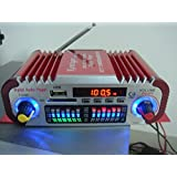 SallyBest 2 Channels 20W+20W Mini HiFi Digital FM Radio Car Power Amplifier MP3 USB SD Audio Player With Remote...