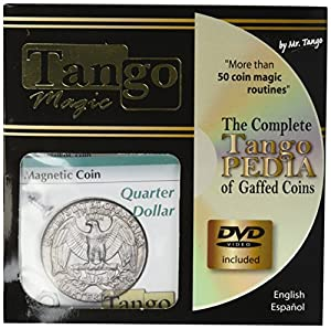 MMS Magnetic Coin D0026(Quarter Dollar with DVD) by Tango - Trick