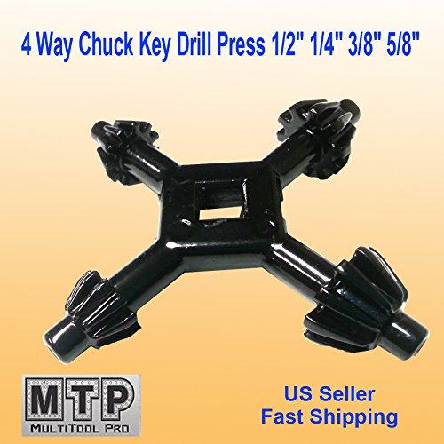 MTP 4 Way Chuck Key Drill Press 1/2