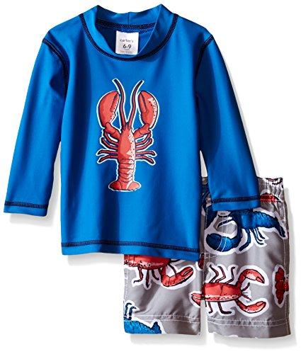 Carter's Baby Lobster Rash Guard Set, Blue, 3/6 Months