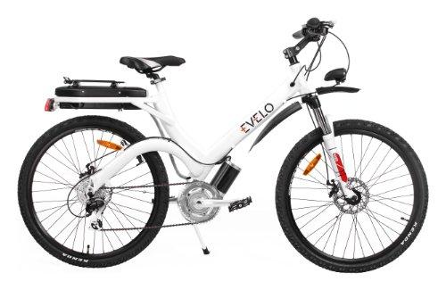 Evelo Aurora Electric Bike With Shimano Alivio 8-Speed Drivetrain & 250W Mid-Drive Motor, White
