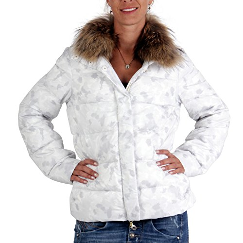 PEUTEREY Damen Winter Daunenjacke Broadway Camouflage White 0966
