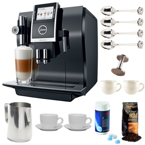 Jura 13752 Impressa Z9 One Touch Tft Coffee Machine + Stainless Steel 18/8 Gauge 20 Oz Frothing Pitcher + Accessory Kit front-535630