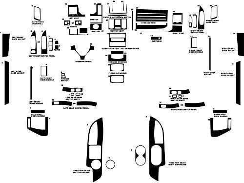 Rdash Dash Kit Decal Trim for Dodge Grand Caravan 2008-2010 - Wood Grain (Walnut) (2010 Dodge Caravan Center Console compare prices)