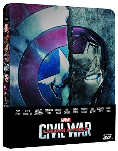 Captain America - Civil War (Blu-Ray 3D + Blu-Ray Disc - Steelbook)