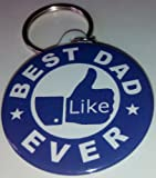 * FACEBOOK LIKE - BEST DAD EVER * Keyring - Ideal Gift - Fathers Day etc