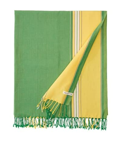 Nomadic Thread Society East African Throw, Parrot Green/Yellow