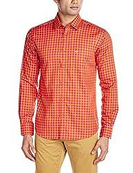 Park Avenue Men's Casual Shirt (8907251112716_PCSX00839-R6_42_Dark Red)