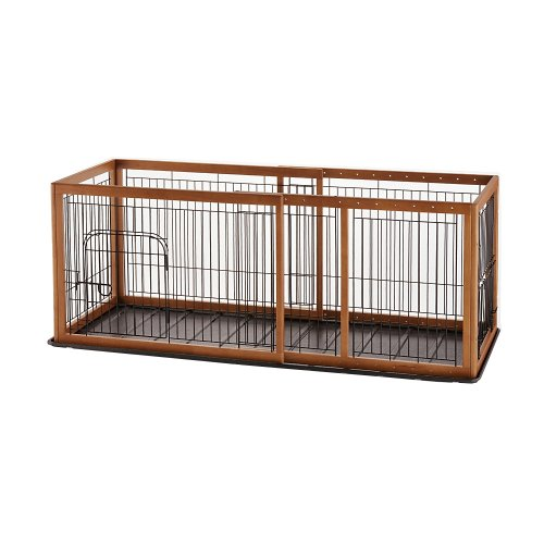 Richell Expandable Pet Pen Medium with Tray, Autumn Matte
