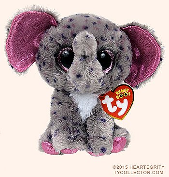 New TY Beanie Boos SPECKS the Spreckled Elephant (Glitter Eyes) (Regular Size - 6 inch)Cute Plush Toys 6'' 15cm Ty Plush Animals Big Eyes Eyed Stuffed Animal Soft Toys for Kids Gifts ...