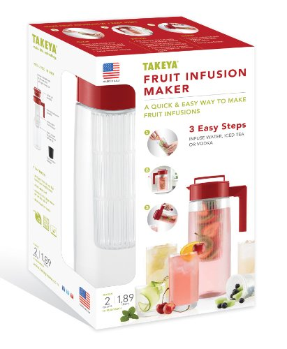 Takeya 2 Quart Fruit Infusion Maker Box Set - Made In Usa