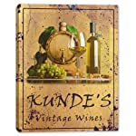 KUNDE'S Family Name Vintage Wines Stretched Canvas Print