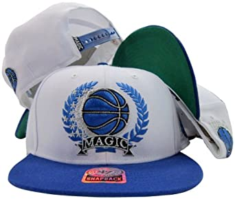 Orlando Magic White Blue Two Tone Wreath Plastic Snapback Adjustable Plastic Snap... by Twins