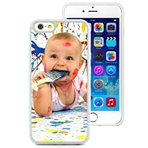 6 case,Unique Design Baby Amusing Paint Dirty Funny Bully White iPhone 6 4.7 inch TPU case cover