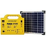 Portable Solar Generator [10 Years Battery Life, Upgraded Technology LiFePO4] Safer & more Durable than Regular Lithium-ion Batteries - 40,000 mAh/140 W- Outputs: AC 110V, USB 2A/5V & DC 6A/12V