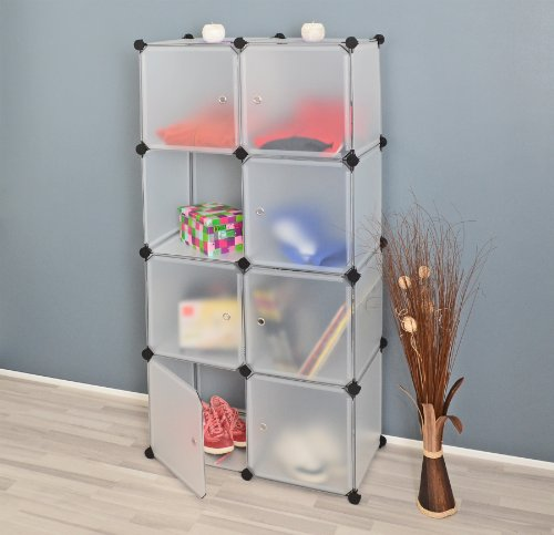 ts-ideen-Regalsystem-77-x-150-cm-Regal-Schrank-Flur-Diele-Badregal-Kleiderschrank-Kommode-Steckregal-Wandregal-in-transparent-Wei