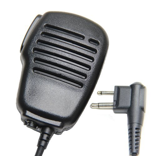 Rainproof 2-Pin Shoulder Remote Speaker Mic Microphone Ptt For Motorola Radio Pmr446 Pr400 Mag One Bpr40 A8 Ep450 Au1200 Etc