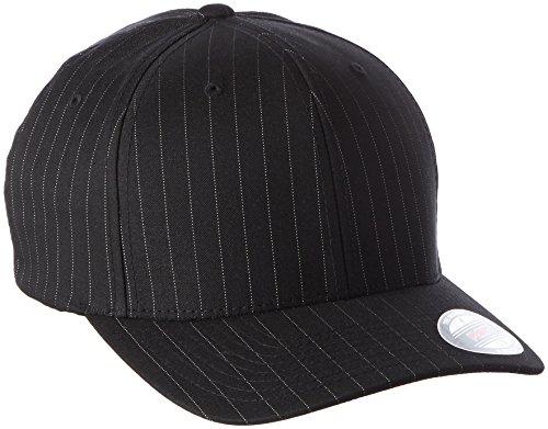 Flexfit, Cappello Unisex adulto Pinstripe, Nero/Bianco (Blk/Wht), L/XL